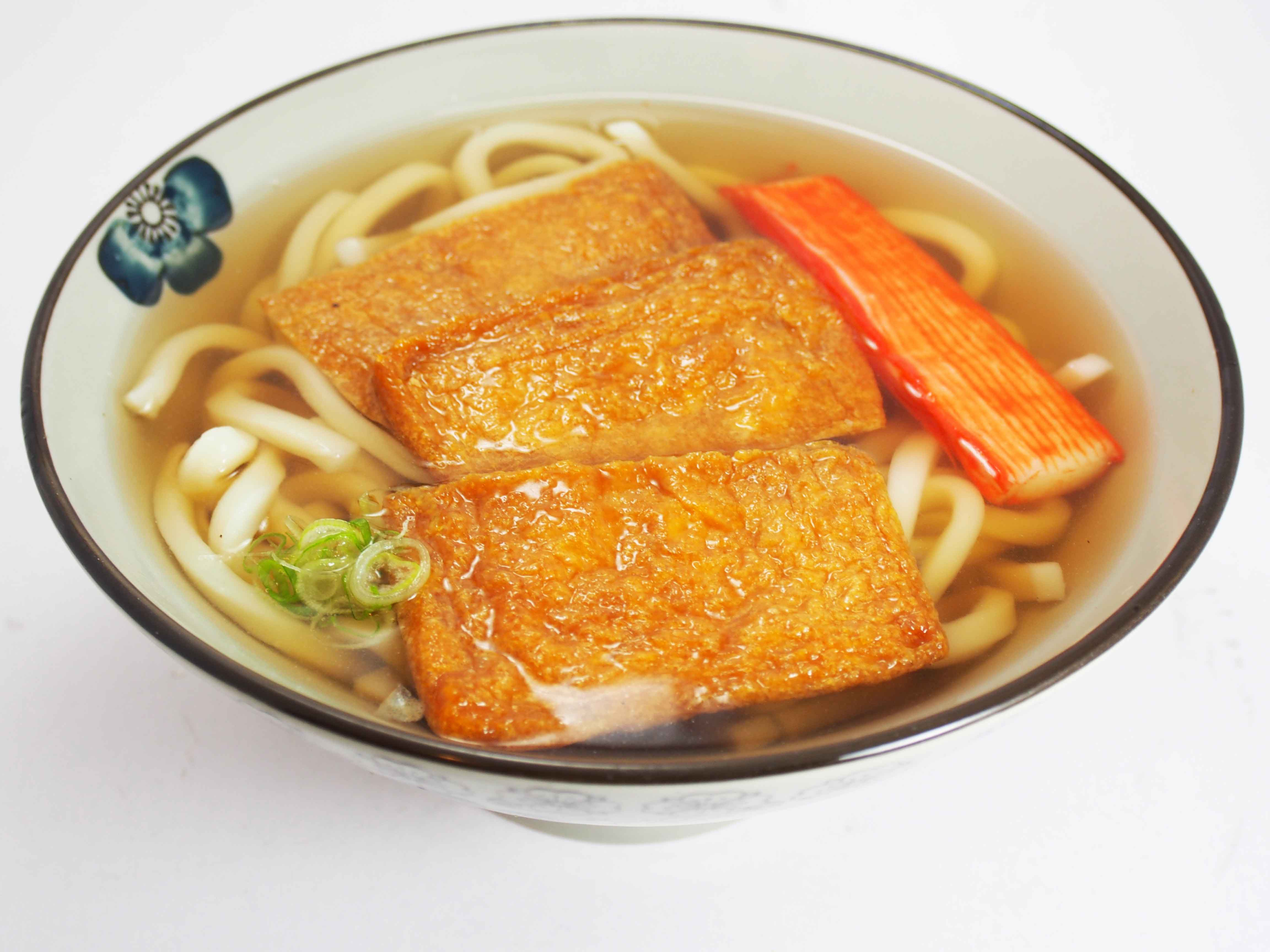 Kitsune Udon $9.50 udon noodles served in a hot clear broth with thin ...